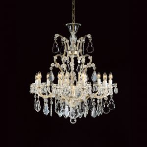 Marie Therese 11 Light Crystal Chandelier in Gold