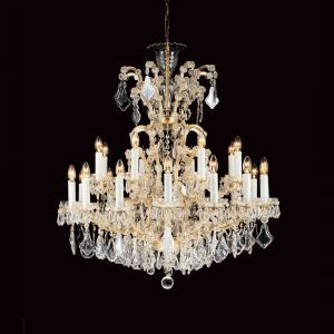 Marie Therese 25 Light Traditional Crystal Chandelier in Gold