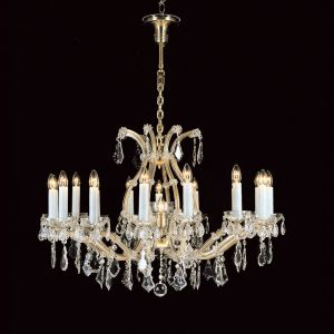 Marie Therese 17 Light Traditional Crystal Chandelier in Gold