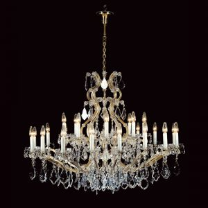 Marie Therese Traditional Crystal Chandelier in Gold 25 Light