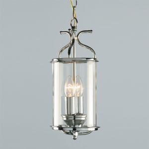 Chrome Circular Ceiling Lantern