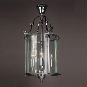 "Solid Brass Traditional Round Hanging Lantern - 11"""