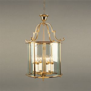 Solid Brass Traditional Round Hanging Lantern  15""