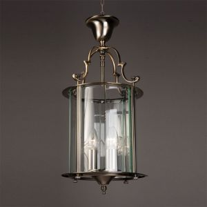 Solid Brass Traditional Round Hanging Lantern  9""