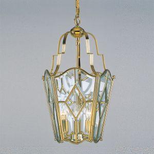 Solid Brass Lantern - 4 Light Bell Shaped Brass Lantern