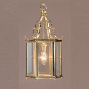 Belgravia 1 Light Solid Brass Georgian Lantern