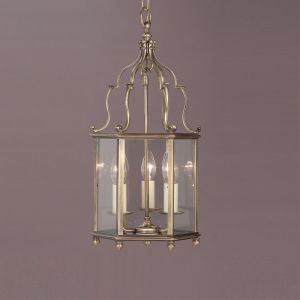 Belgravia 3 Light Solid Brass Georgian Lantern