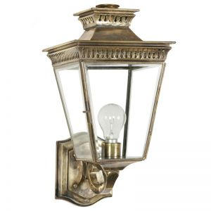 Pagoda Solid Brass Outdoor Wall Lantern