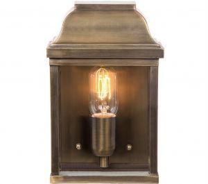Victoria Solid Brass Outdoor Lantern, Antique Brass