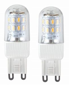 3 Watt Dimmable LED G9 Lamp - Twin Pack