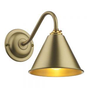 David Hunt LON0740 London 1 Light Wall Light In Butter Brass